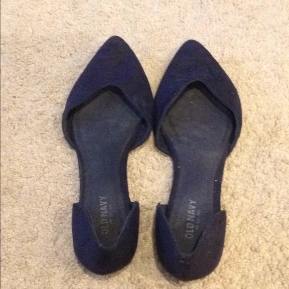 7e8a5b2860ca7 Old Navy Shoes | Navy Blue Pointy Flats Womens Size 7 | Poshmark